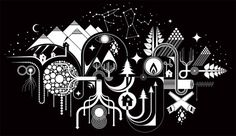 MWM Graphics | Matt W. Moore #white #black #symbols #illustration #stars #and