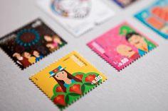 C T T on Behance #graphics #illustration #colour #stamps