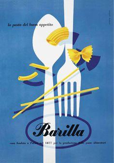 Archive Gallery | L'Arte della Cucina | Barilla Factory #vintage #barilla #ad #pasta