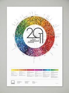 Pantone Calendar on the Behance Network