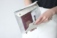 Leather Clutch #clutch #diy #white #leather