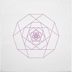 #281 Another rose – A new minimal geometric composition each day