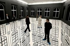 tumblr_lzovse8hwn1qbklpto1_1280.jpg (750×498) #white #installation #perspective #black #art #and
