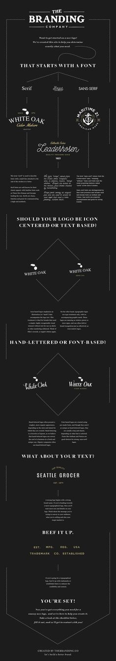 A great infographic about logo creation #infographic #the branding co #branding #logo #design