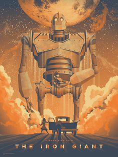 Space io The Iron Giant Mondo Art Print
