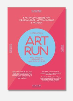 Visual identity for Art Run, Copenhagen. Made by: shft.dk