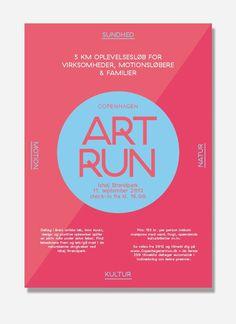 Visual identity for Art Run, Copenhagen. Made by: shft.dk