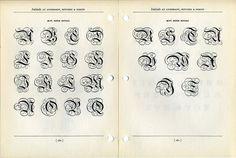 Ornamental inital caps type specimen #type #specimen #typography