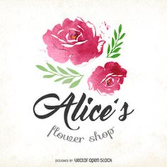Watercolor flower shop logo http://bit.ly/29C4V8s