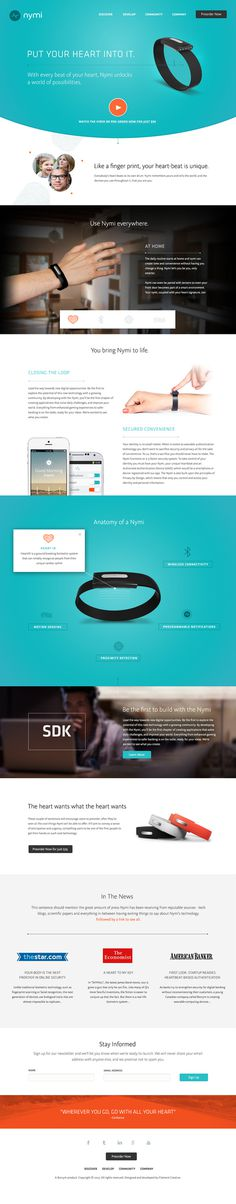 Nymi Band Website #branding #ux #ui #layout #web