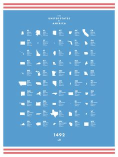 United States Poster #states #design #graphic #united #futura #america