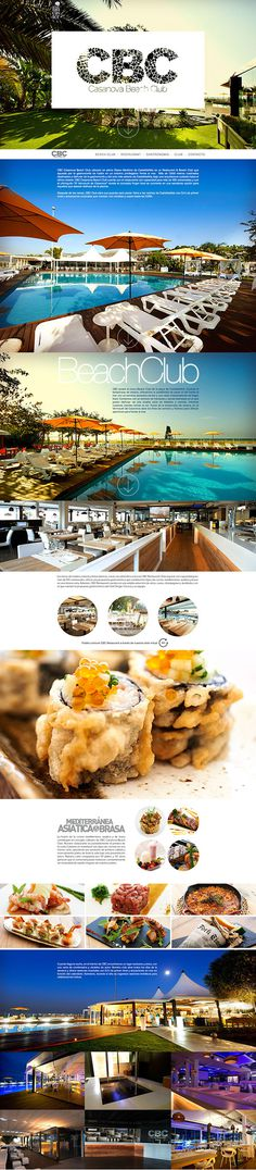 CBC Casanova Beach Club on Behance #restaurant