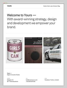 Yours #website #layout #web