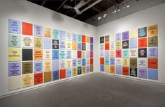 Installation view of Slogans For The 21st Century, 2012 #internet #slogans #future #the