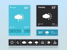 Flat Weather Widget PSD