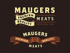 Maugers_meats_logo_explorations #meat