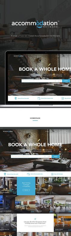 Accommodation.net Travel Booking Redesign on Behance #web