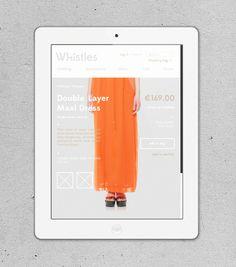Whistles on Behance #fashion #webshop #upscale