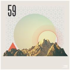 Around and Around #poster #shapes #mountains #aroundaround #jesse brew
