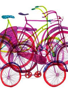 . #bicycle #illustration #color #bike