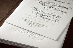 The Wedding Invitations on the Behance Network #letterpress #lettering #invitation #wedding #wedding invitation