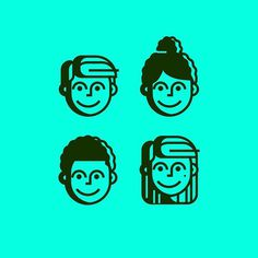 The littles we created for the @sheridanstory icon family #kids #face #head #school #graphicdesign #design #art #creative #vector #vectorart