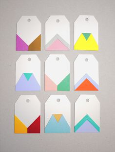 Gift tags #card colour