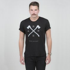 Cutters Tee | Bare & Hatchet #model #hatchet #apparel #beard #axe #shirt #mustache #t-shirt #menswear #fashion #man