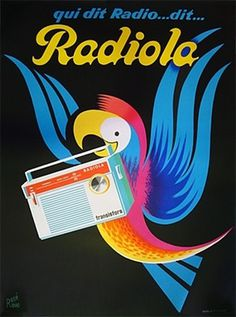 All sizes | Ravo Radiola Parrot | Flickr - Photo Sharing! #color #bird #vintage #poster #typography