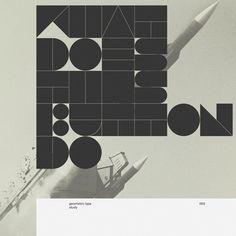 Buamai - Geometric - Marius Roosendaal—msced '11 #design #graphic #typography