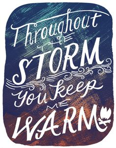 Throughoutthestorm_11x14_illo #print #typography #hand lettering #quote #this paper ship