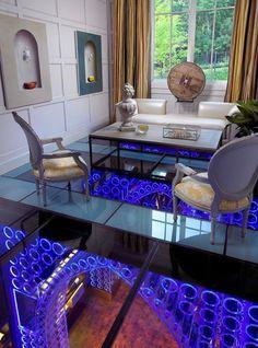Luxury interior with white sofa set