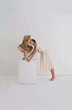 Paloma Wool #sculpture #photo #fashion #dress #antique #kiss