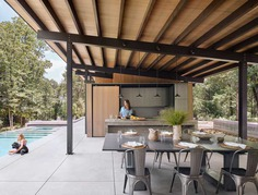dining space, Lake Flato Architects