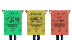 Checkland Kindleyside's identity for Café Football #logo #football #design #branding