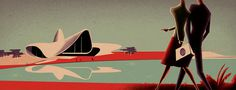 Baku Bay - Pascal Blanchet #illustration #blanchet #pascal