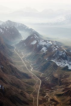 Ro Bott #line #path #mist #photography #mountains #river #photogrpahy