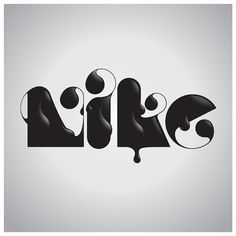Nike - 2010 on the Behance Network #nike #typography