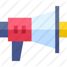 See more icon inspiration related to promotion, announcer, announcement, shout, bullhorn, loudspeaker, electronics, megaphone, communications and marketing on Flaticon.