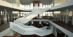 Town Library, Altrincham - Thomas Waddington #staircase #architecture #library