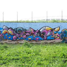 Graffiti wall #graffiti #streetart #happy #handdrawing #drawing #pencil #lettering #numbers #fantasy #aerosolart #streetstyle #graffitiart #urban #color #piece #spray #spraycanart #sketch #7913 #colorificioastrale