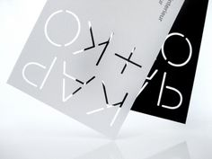 Kap+Ko identity, by Capaz Creative Journal #die #cut #light