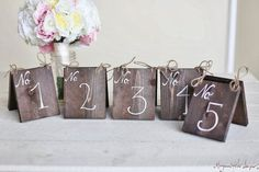 Wedding Tent Table Numbers Wood Barn Wedding Item by braggingbags, $12.50 #wood