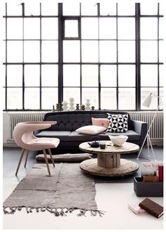 Light Pink | Dark Grey Inspiration @ Nordic Design