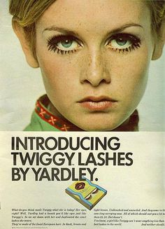 twiggy lashes #print #vintage #advertising