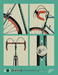 FFFFOUND! | Artcrank 2011 Process | Allan Peters Advertising and Design Blog #allan #peters #bike #poster #type
