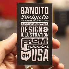 Bandito Design Co. #type #design #letterpress #businesscard