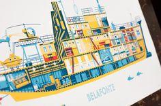 Description #print #yellow #the #aquatic #life #belafonte
