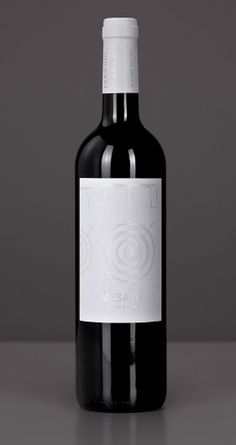 The MESA Project - Wine Packaging Blog - The Dieline Wine #silver #black #label #wine #stamping #foil