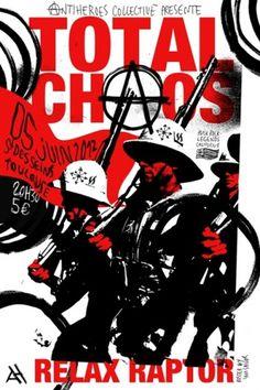 TOTAL CHAOS - Romain Barbot | IAMSAILOR #print #silkscreen #gig #poster